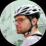 cocyclette cycliste urbain portrait vélo
